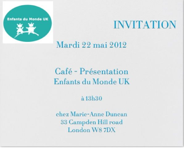 INVITATION CAFE EDM UK LE 22 MAI 2012